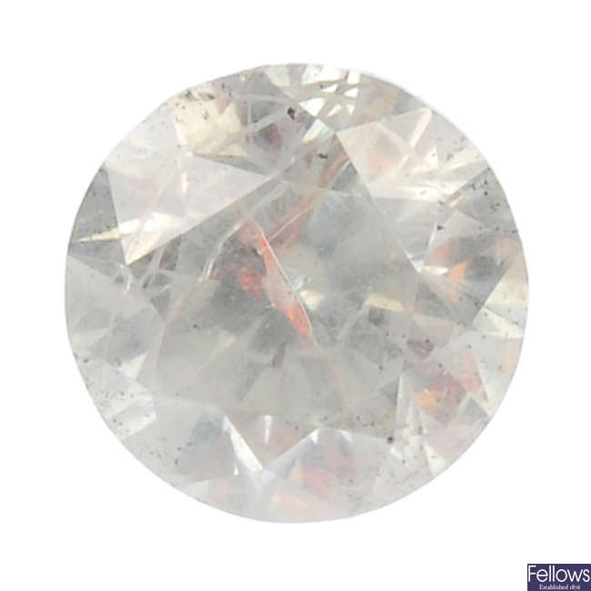 A brilliant-cut fracture-filled diamond, weighing 1.60cts.