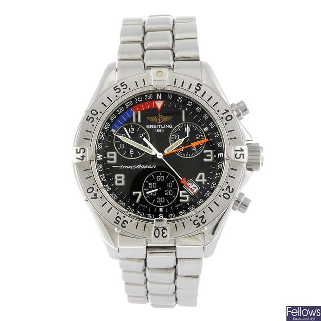 BREITLING - a gentleman's Aeromarine Colt Chrono Transocean chronograph bracelet watch.