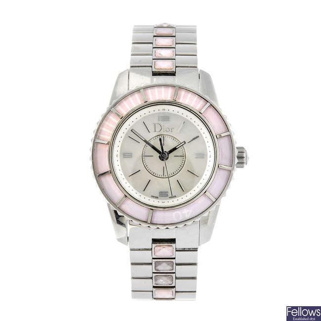 DIOR - a lady's Christal bracelet watch.