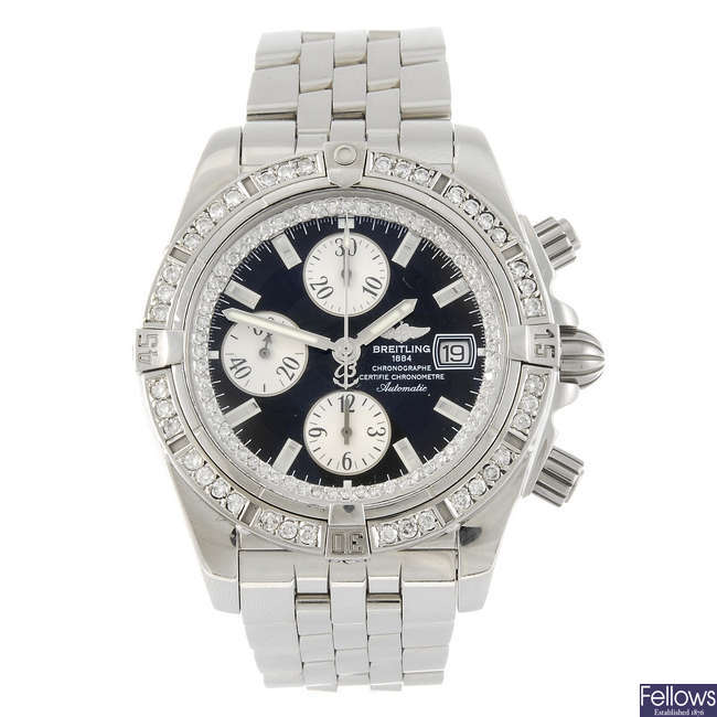 BREITLING - a gentleman's Windrider Chronomat Evolution chronograph bracelet watch.