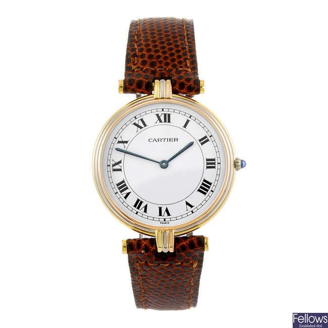 CARTIER - a Vendome wrist watch.
