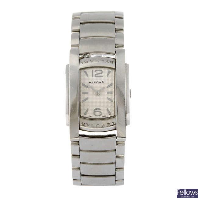 BULGARI - a lady's Assioma bracelet watch.