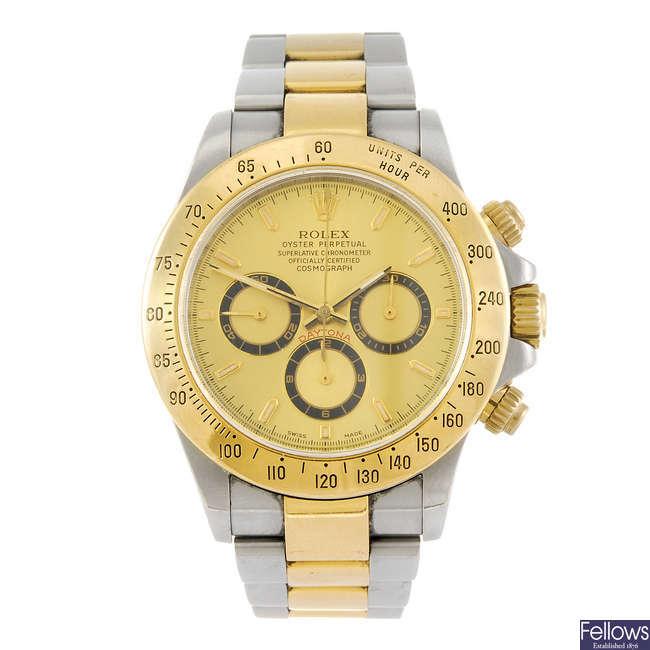 ROLEX - a gentleman's Oyster Perpetual Cosmograph Daytona chronograph bracelet watch.