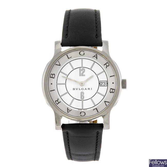 BULGARI - a gentleman's Solotempo wrist watch.