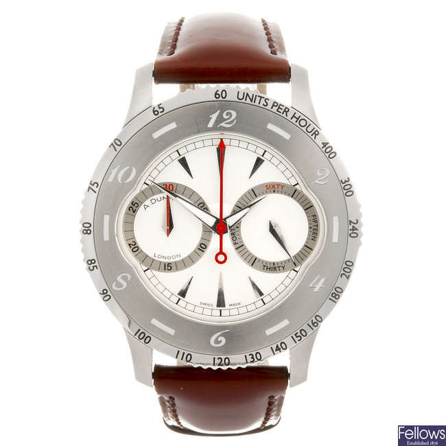 DUNHILL - a gentleman's Bobby Finder chronograph wrist watch.