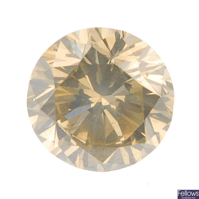 A brilliant-cut diamond, weighing 1.19cts.
