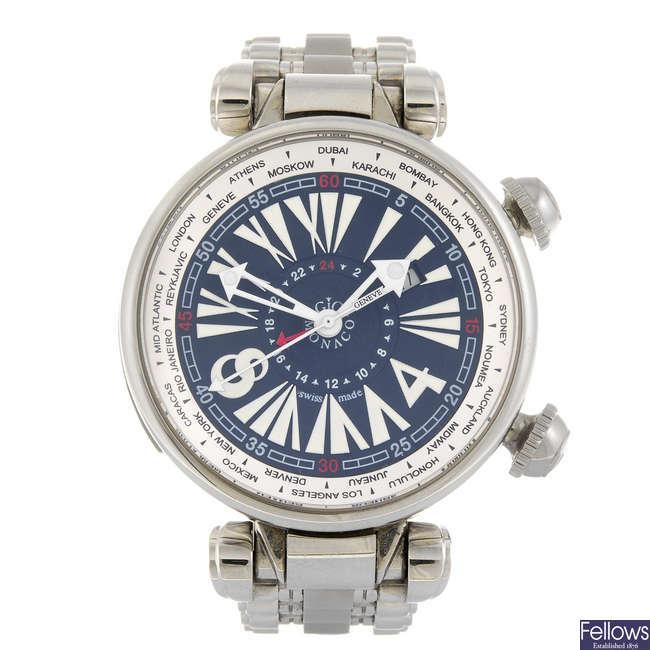 GIO MONACO - a gentleman's Geopolis bracelet watch.