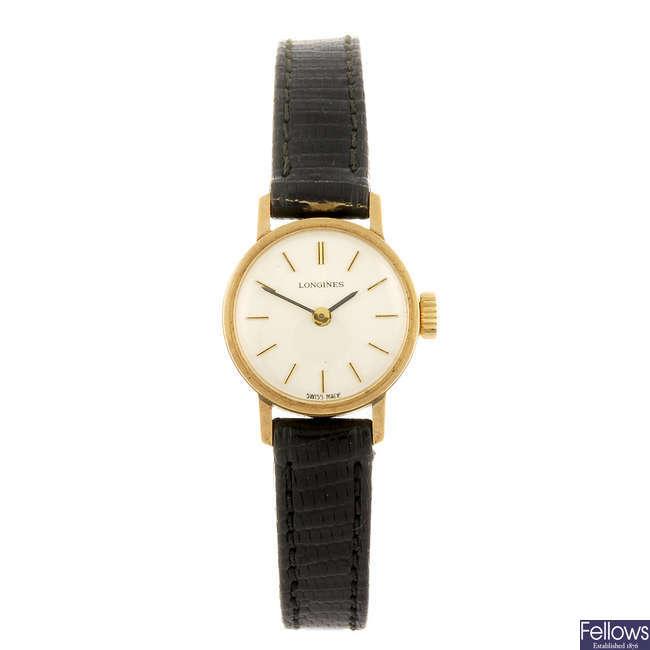 LONGINES - a lady's wrist watch.
