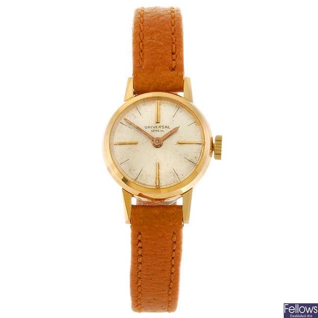 UNIVERSAL GENEVE - a lady's wrist watch.