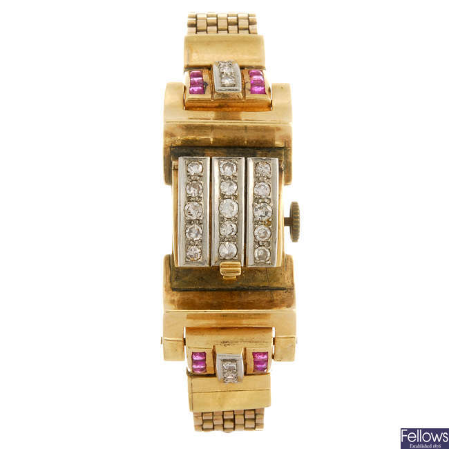 A lady's bracelet watch.