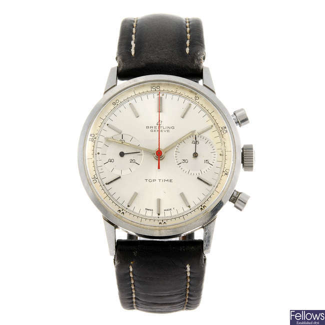 BREITLING - a gentleman's Top Time chronograph wrist watch.