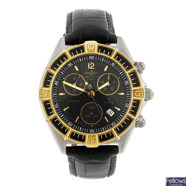 BREITLING - a gentleman's Windrider J-Class chronograph wrist watch.