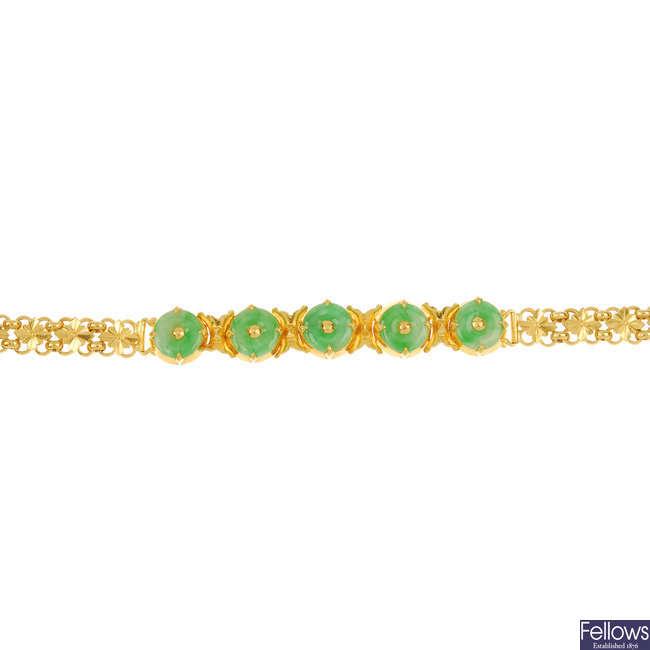 A jade bracelet.