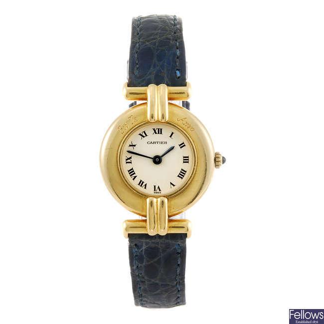 CARTIER - a lady's Rivoli wrist watch.