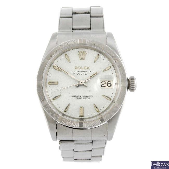 ROLEX - a gentleman's Oyster Date bracelet watch