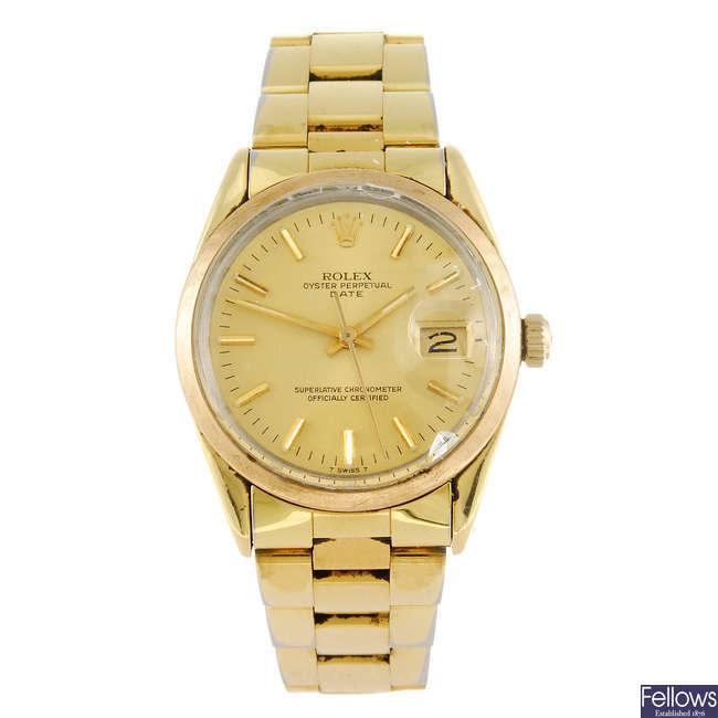 ROLEX - a gentleman's Oyster Perpetual Date bracelet watch.