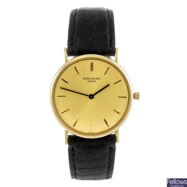 PATEK PHILIPPE - a gentleman's wrist watch.