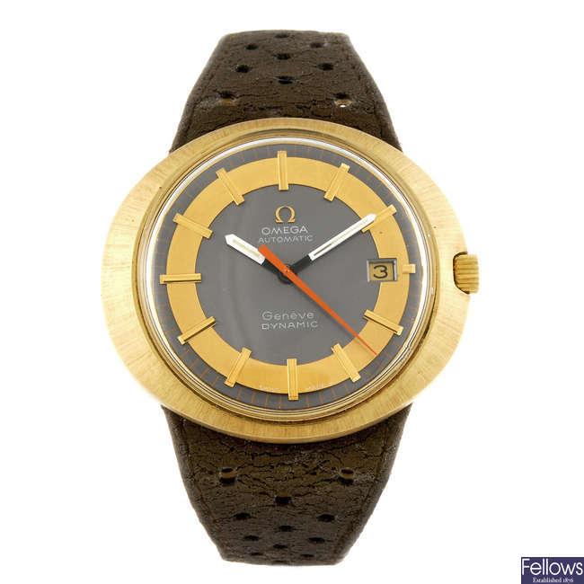 OMEGA - a gentleman's Geneve Dynamic wrist watch.