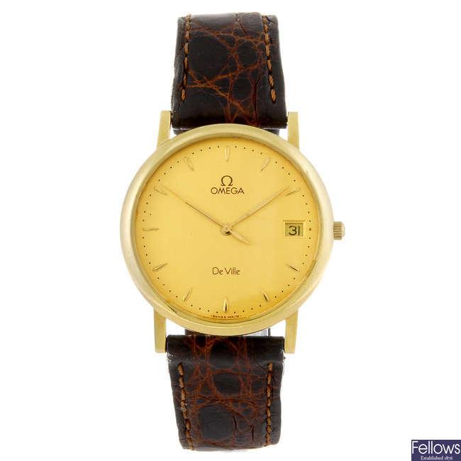 OMEGA - a gentleman's yellow metal De Ville wrist watch.