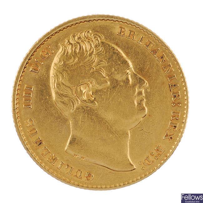 William IV Sovereign 1837.