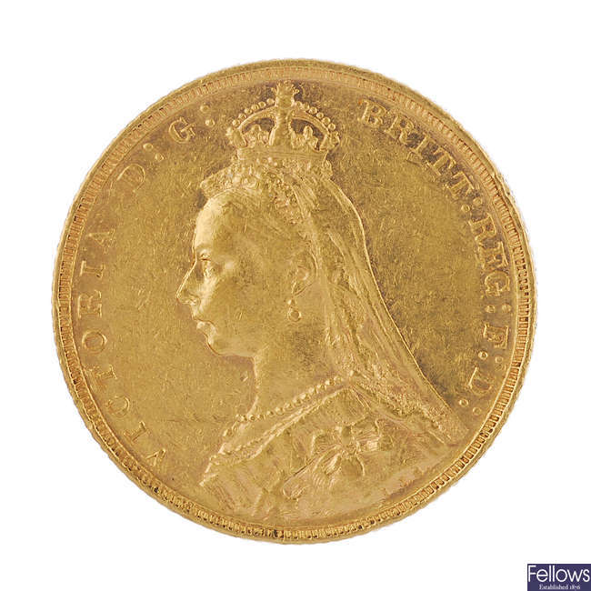 Victoria, Sovereign 1892M.
