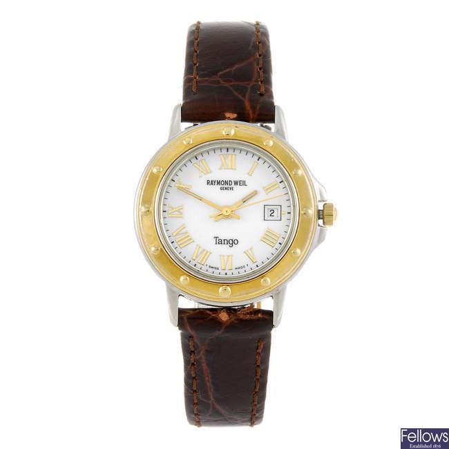 RAYMOND WEIL - a lady's Tango wrist watch.