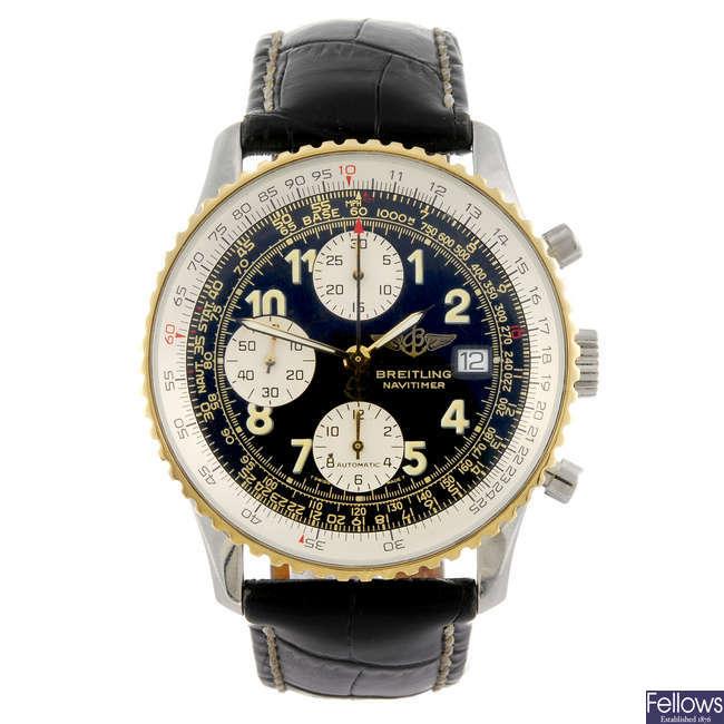 BREITLING - a gentleman's Navitimer chronograph wrist watch.