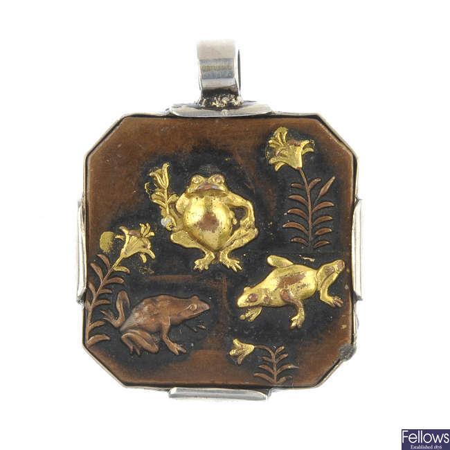 A shakudo pendant.