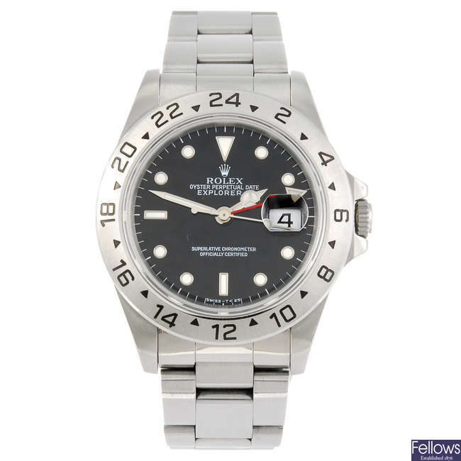 ROLEX - a gentleman's Oyster Perpetual Explorer II bracelet watch.