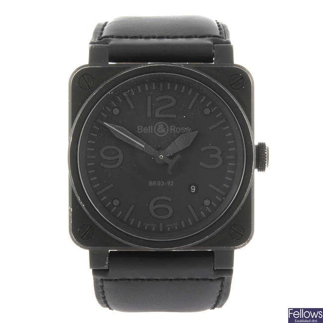 BELL & ROSS - a gentleman's Phantom wrist watch.