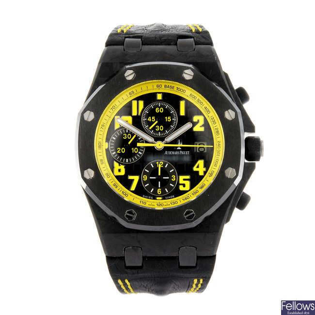 AUDEMARS PIGUET - a gentleman's Royal Oak Offshore 'Bumblebee' chronograph wrist watch.