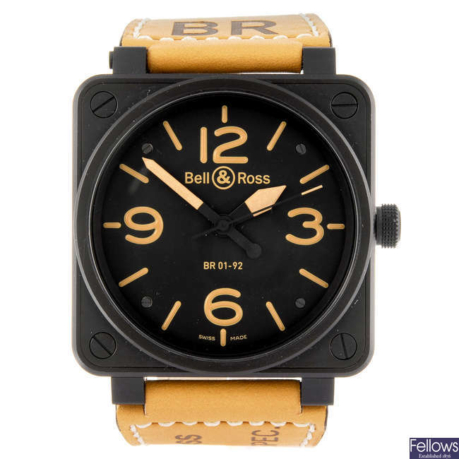 BELL & ROSS - a gentleman's BR 01-92 Heritage wrist watch.