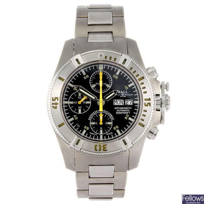 BALL - a gentleman's Engineer-Hydrocarbon chronograph bracelet watch