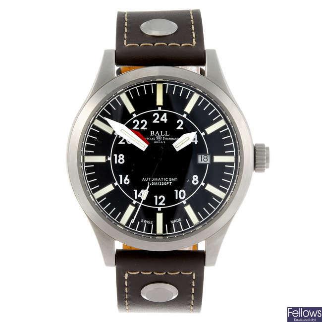 BALL - a gentleman's Engineer Master II Aviator GMT wrist watch.