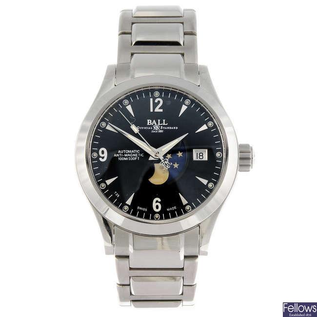 BALL - a gentleman's Engineer II Ohio Moon Phase bracelet watch