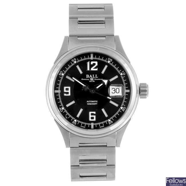 BALL - a gentleman's Fireman Racer bracelet watch.
