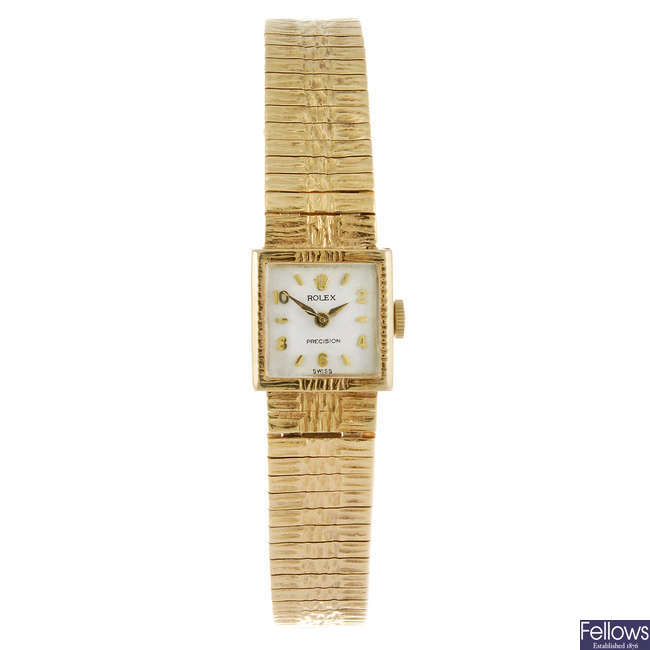ROLEX - a lady's Precision bracelet watch.