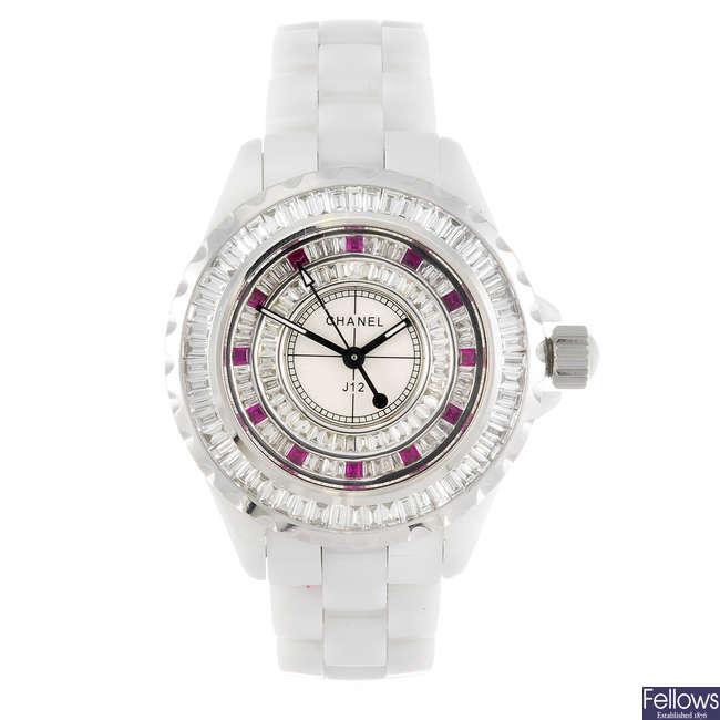 CHANEL - a lady's J12 bracelet watch.