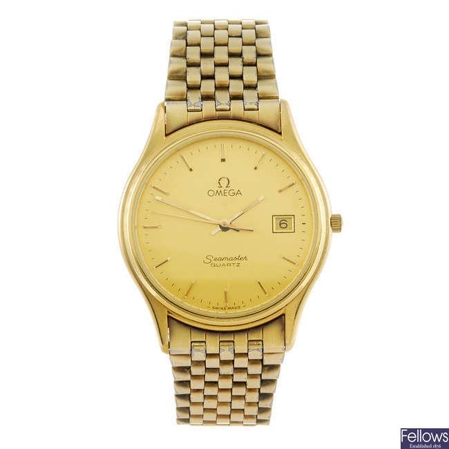 OMEGA - a gentleman's Seamaster bracelet watch.