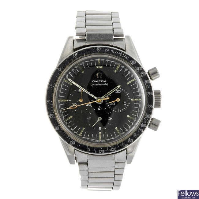 OMEGA - a gentleman's Speedmaster 'pre-moon' chronograph bracelet watch.