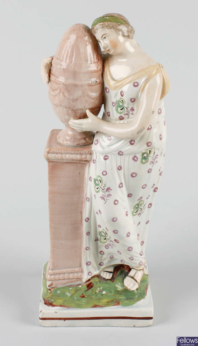 A Staffordshire pearlware figure of Andromache