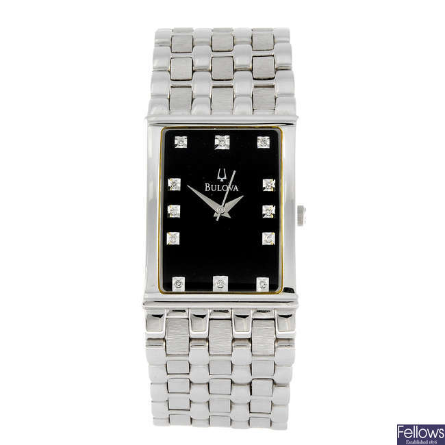 BULOVA - a gentleman's bracelet watch.