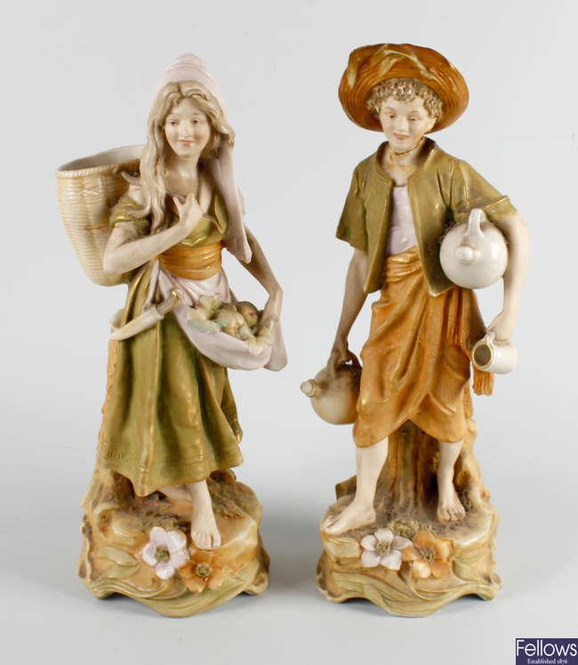 A pair of Royal Dux Bohemia figures