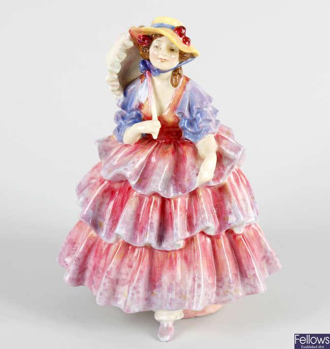 A Royal Doulton figure, 'The Hinged Parasol'