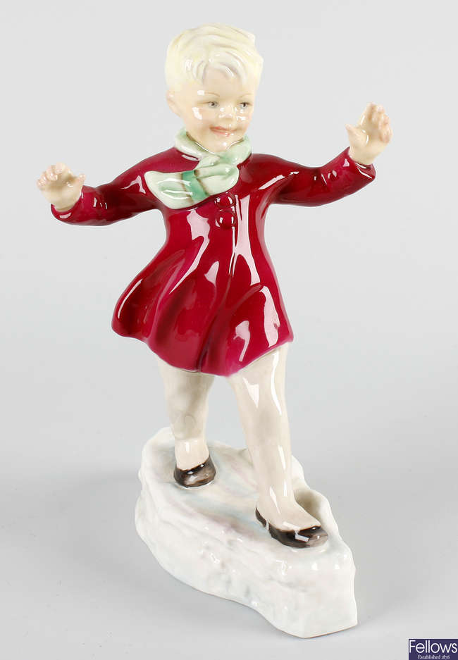 A Royal Worcester figure, 'January'