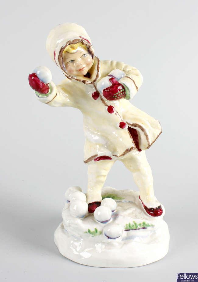 A Royal Worcester figure, 'December'