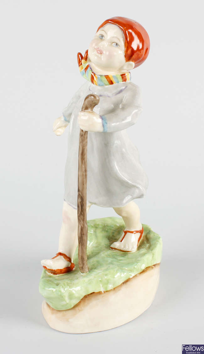 A Royal Worcester figure, 'Thursday's child has far to go'