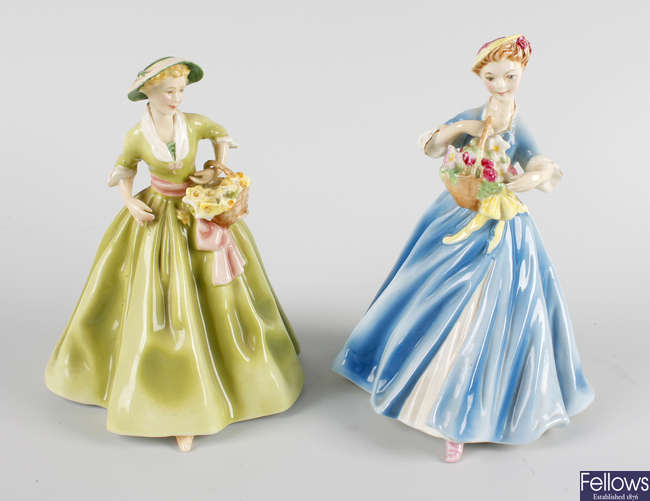 Two Royal Worcester figures