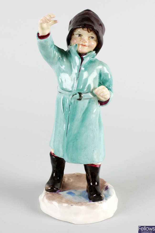 A Royal Worcester figure, 'February'