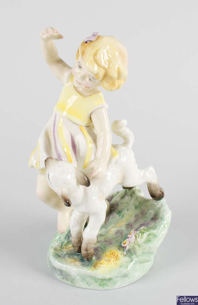 A Royal Worcester figure, 'April'